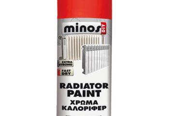 Χρώμα Σωμάτων Καλοριφέρ Λευκό Radiator Paint Minos 300ml